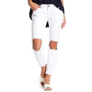 One Teaspoon White Freebird Distressed Jeans 27